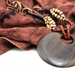 Wooden necklace — Stock Photo #10222060