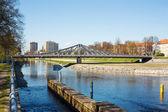 новый мост через реку влтаву — Стоковое фото