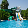 Stock Photo: Waterslide at pool