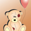 Bear cub and balloon — Stok Fotoğraf #8249963