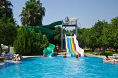 Waterslide at pool — Stock Photo