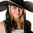 Stock Photo: Beautiful girl in hat