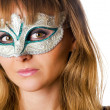 Girl in маскарадной to mask — Stock Photo #8703509