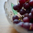 Stock Photo: Grape on plate
