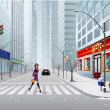 Vector de stock : City street