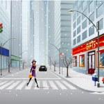 strada della città — Vettoriale Stock