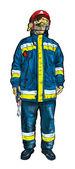 пожарный — Стоковое фото
