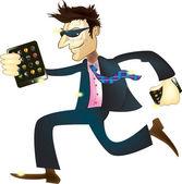 Running manager — Stock Vector