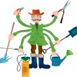 Royalty-Free Stock Vector Image: Gardener grandpa