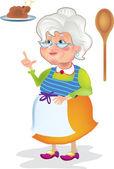 Grandma cooked — Stock Vector
