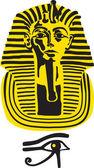 Symbol of the great pharaoh Tutankhamen, vector — Stock Vector