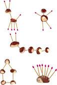 Chestnut figures — Stock Vector