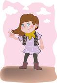 маленькая девочка — Cтоковый вектор