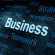 Pixeled word Business on digital screen — Stock Photo