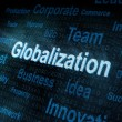 Pixeled word Globalization on digital screen — Stock Photo
