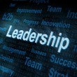 Royalty-Free Stock Photo: Pixeled word Leadership on digital screen