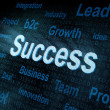 Pixeled word Success on digital screen — Stock Photo #10468571
