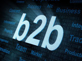 Pixeled word b2b on digital screen — Stock Photo