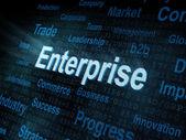 Pixeled word Enterprise on digital screen — Stock Photo