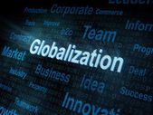 Pixeled woord globalisering op digitaal scherm — Stockfoto