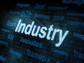 Pixeled word Industry on digital screen — Stock Photo