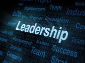 Pixeled word Leadership on digital screen — Stock Photo