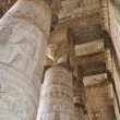 Columns in a egyptian temple - Stock Photo