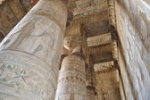 Columns in a egyptian temple — Stock Photo