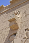 External wall of an Egyptian temple — Stockfoto