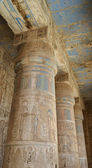 Columns at an ancient egyptian temple — Foto Stock