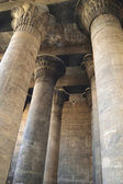 Columns at an ancient egyptian temple — Stock Photo