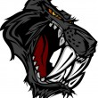 Постер, плакат: Panther Saber Tooth Cat Mascot Head Vector Graphic