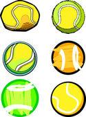 Imágenes de vector de pelota de tenis — Vector de stock