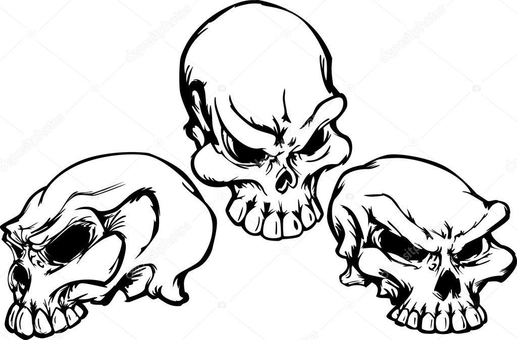 图形矢量图像的头骨组