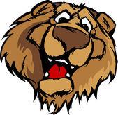 Smiling Cartoon Bear Mascot Vector Graphic — Stock Vector