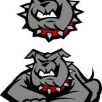 Bulldog Mascot Body Vector Illustration — Stock Vector