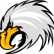 Eagle Mascot Head Vector Graphic - Stock Vector