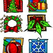 Christmas and Holiday Icon Vector Illustrations — Stock Vector