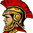 Spartan Trojan with Helmet Mascot Vector Image - Stock Vector