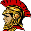 Spartan Trojan with Helmet Mascot Vector Image — Stock Vector