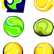 Tennis Ball Vector Image Icons — Stock Vector