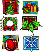 Noel ve holiday simge vektör çizimler — Stok Vektör