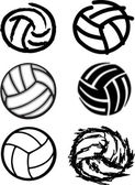 Volleyball Ball Vector Image Icons — Stock Vector