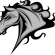 Wild Horse or Stallion Graphic Mascot Vector Image - Stock Vector