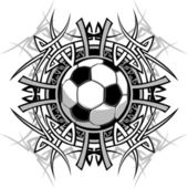 Soccer Tribal Graphic Image — Stock Vector