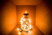 Lights in a jar — Stock Photo