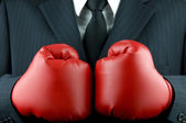 Business boxing gloves (business tough) — Stock Photo