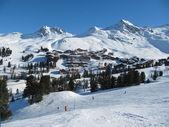 Alpine Scene, La Plagne, France — Stock Photo