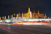 Wat pra kaew Grand palace at night bangkok,Thailand — Stock Photo