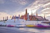 Twilight Wat pra kaew Grand palace at dusk,Bangkok Thailand — Stock Photo